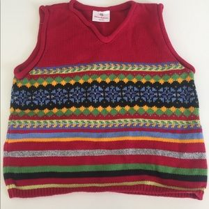 Hanna Andersson red sweater vest stripe 120